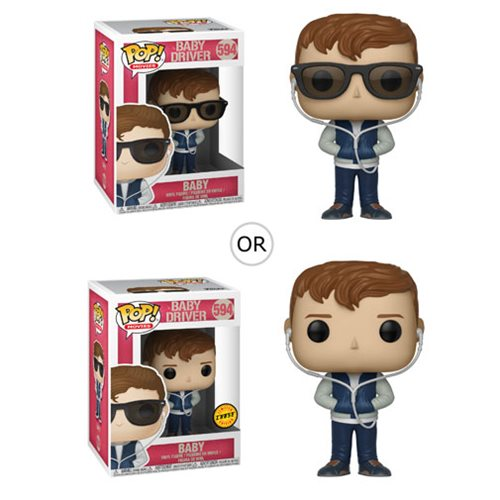 Get ready to take the wheel! From the film Baby Driver comes a Pop! Vinyl Figure of Baby! This Baby Driver Baby Pop! Vinyl Figure #594 measures approximately 3 3/4-inches tall and comes packaged in a window display box. Ages 3 and up. Made in China. Please note: This item may have variants randomly inserted throughout the production run. We cannot accept requests for specific variants, nor can we accept returns on opened items. The item you receive may be different from the one pictured.