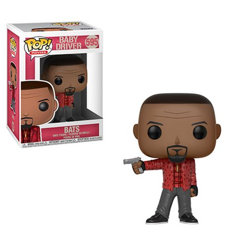 Get ready to take the wheel! From the film Baby Driver comes a Pop! Vinyl Figure of Bats! This Baby Driver Bats Pop! Vinyl Figure #595 measures approximately 3 3/4-inches tall and comes packaged in a window display box. Ages 3 and up. Made in China.