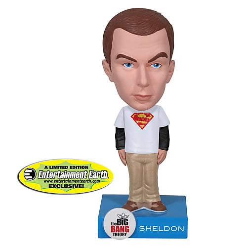 EE Exclusive Big Bang Theory Superman Sheldon Bobble Head