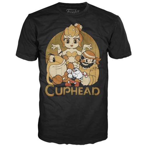 Cuphead and Bosses Black Pop! T-Shirt