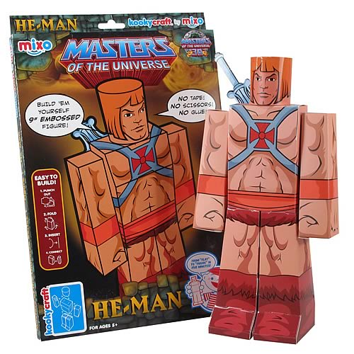 Masters of the Universe He-Man Kookycraft Papercraft