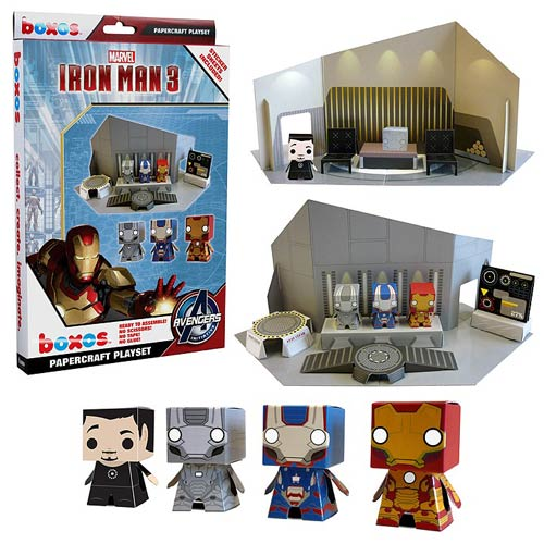 Iron Man 3 Movie Boxo Papercraft Playset