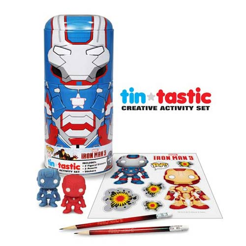 Iron Man 3 Movie Iron Patriot Tin-Tastic Pencil Set w/ Tin
