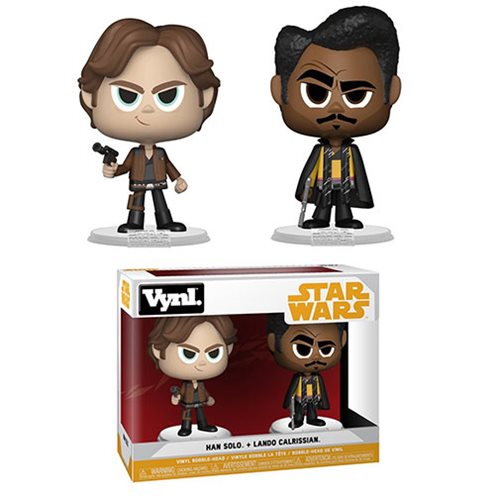Star Wars Solo Han and Lando Vynl. Figure 2-Pack