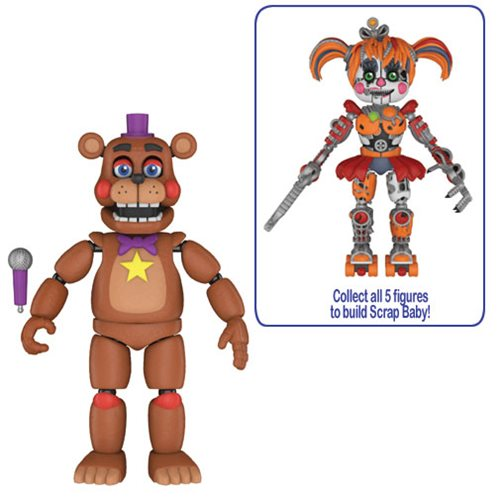 FNAF Pizza Simulator Rockstar Freddy 5-Inch Action Figure