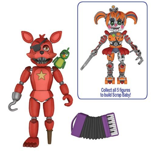 FNAF Pizza Simulator Rockstar Foxy 5-Inch Action Figure