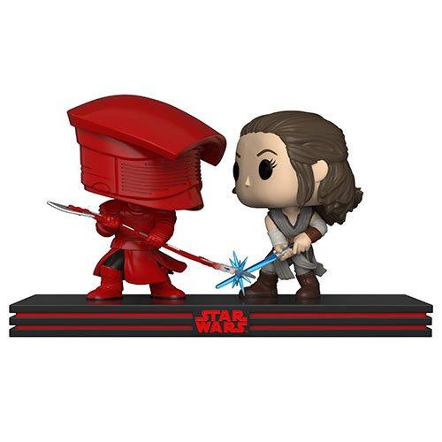 Star Wars TLJ Rey and Praetorian Guard Pop! Movie Moments