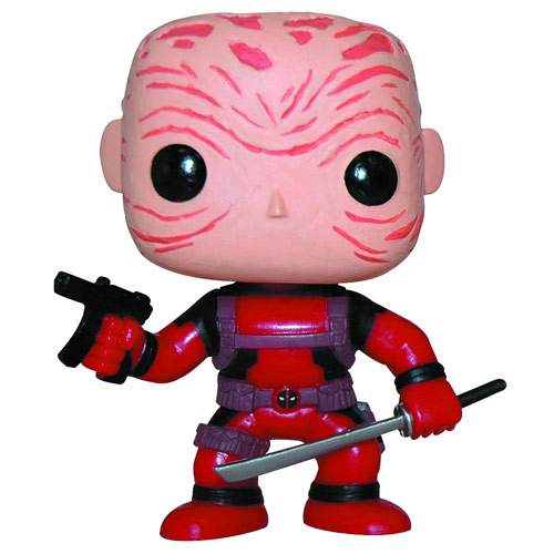 Deadpool Maskless Red Suit Marvel Pop! Vinyl Bobble Head