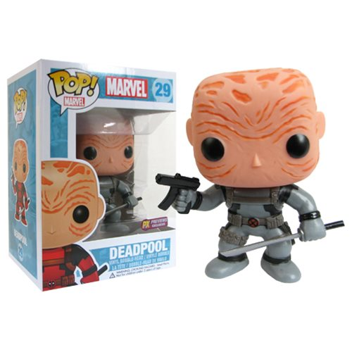 Deadpool Maskless Gray Suit Marvel Pop! Vinyl Bobble Head