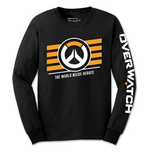 Overwatch Long Sleeve Black Pop! T-Shirt
