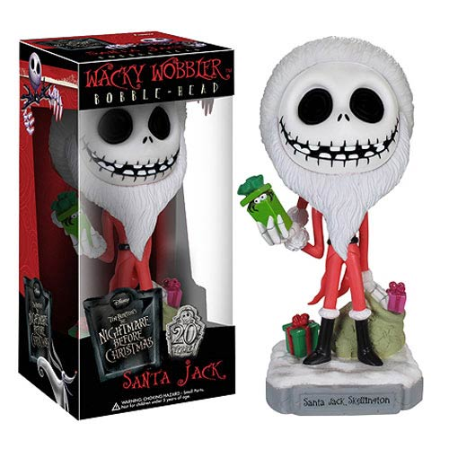 Nightmare Before Christmas Santa Jack Bobble Head