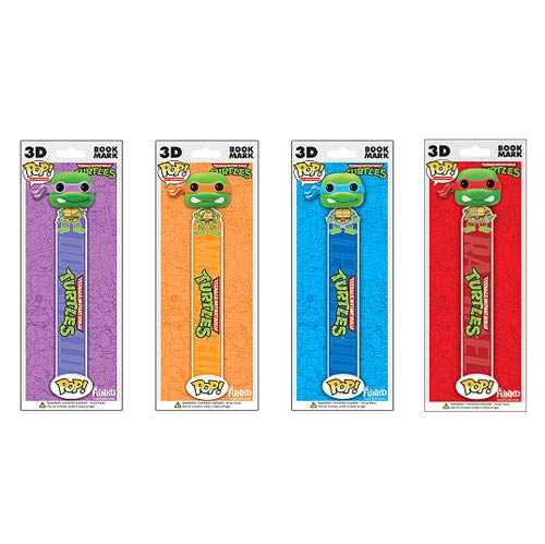 Teenage Mutant Ninja Turtles Pop! 3-D Bookmark 4-Pack