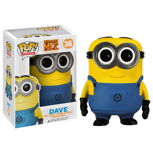 Despicable Me 2 Movie Dave Pop! Vinyl Figure, Not Mint