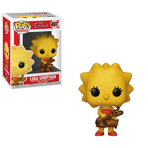 Simpsons Lisa Saxophone Pop! Vinyl Figure