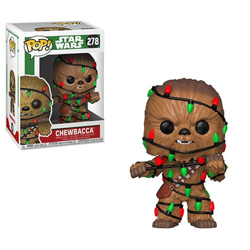 Star Wars Holiday Chewbacca with Lights Pop! Vinyl #278