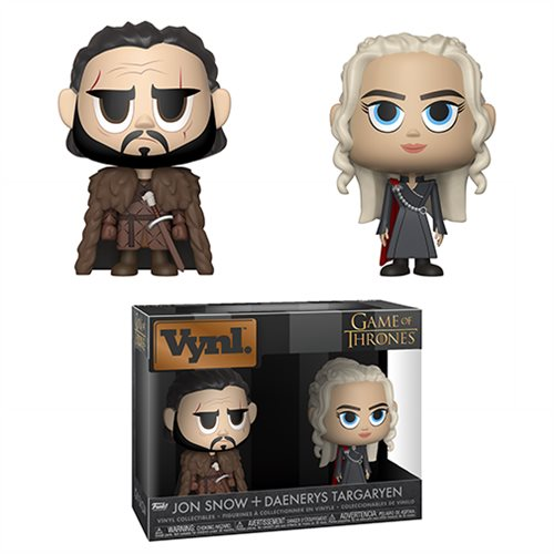 Game of Thrones Jon and Daenerys Vynl. Figure 2-Pack