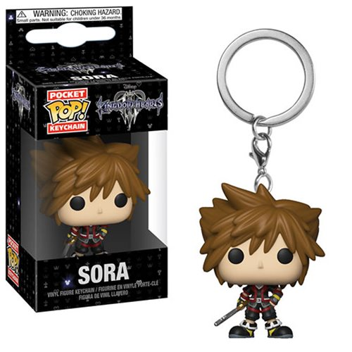 Kingdom Hearts 3 Sora Pocket Pop! Key Chain
