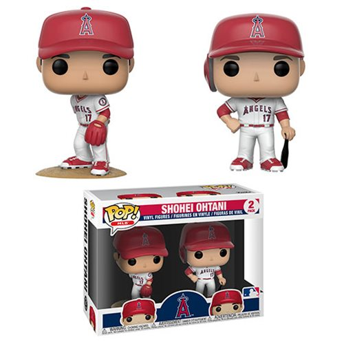 MLB Angels Shohei Ohtani Pop! Vinyl Figure 2-Pack, Not Mint