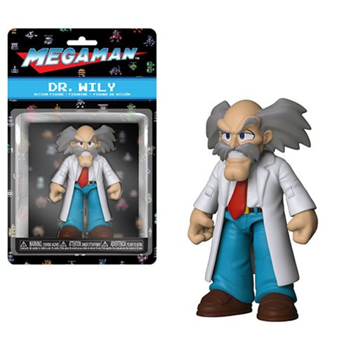 Mega Man Dr. Wily Action Figure, Not Mint