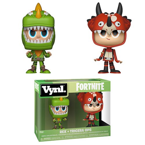 Fortnite Rex and Tricera Ops Vynl. Figure 2-Pack