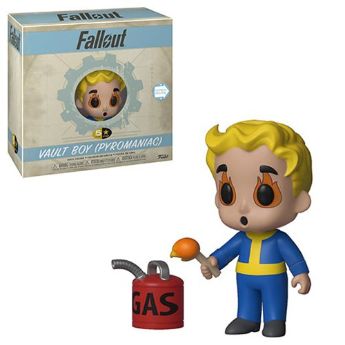 Fallout Vault Boy Pyromaniac 5 Star Vinyl Figure