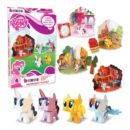 My Little Pony Friendship is Magic Papercraft Activity Set