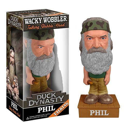 Duck Dynasty Phil Robertson Talking Bobble Head