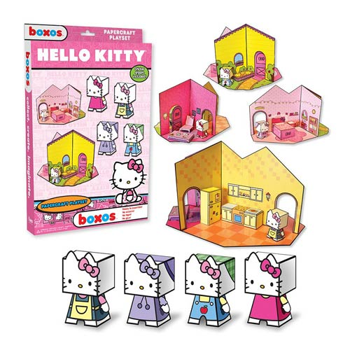 Hello Kitty Boxo Papercraft Activity Playset