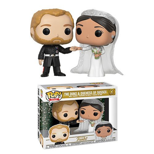 Royals Duke and Duchess of Sussex Pop! 2-Pack, Not Mint