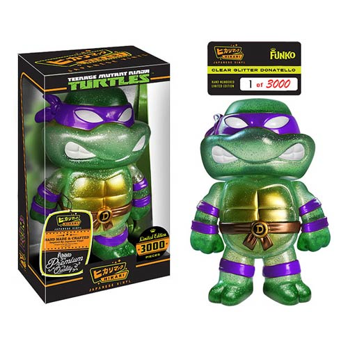 TMNT Clear Donatello Hikari Sofubi Vinyl Figure