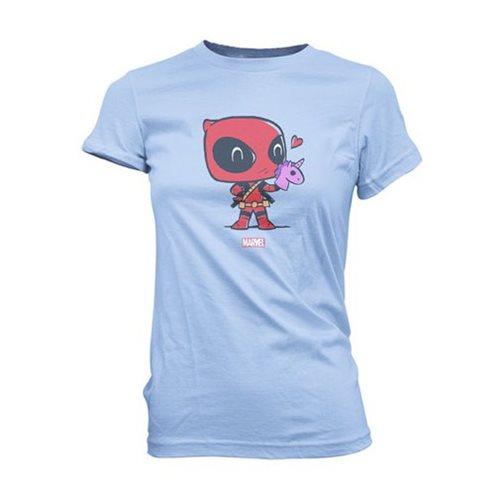 Deadpool Hand Puppet Super Cute Juniors T-Shirt
