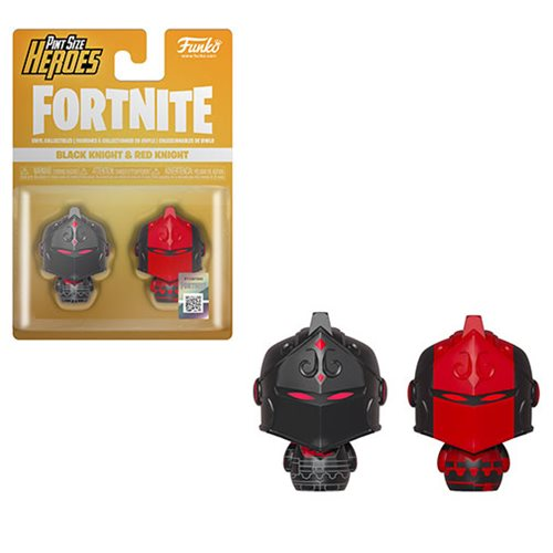 Fortnite Black Knight and Red Knight Pint Size Heroes Mini-Figure 2-Pack