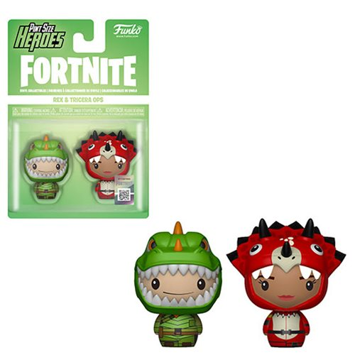 Fortnite Rex and Tricera Ops Pint Size Heroes Mini-Figure 2-Pack