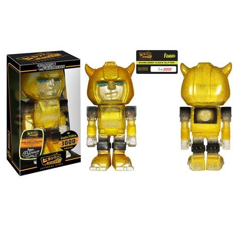 Transformers Bumblebee Clear Glitter Hikari Sofubi Figure