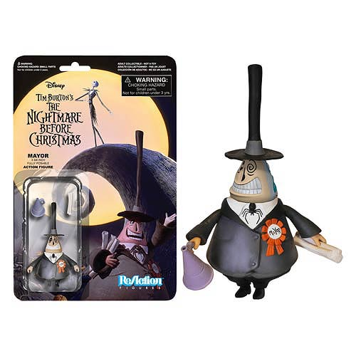 Nightmare Before Christmas Mayor ReAction 3 3/4-Inch Figure