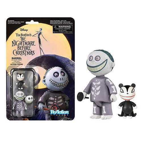 Nightmare Before Christmas Barrel ReAction 3 3/4-Inch Figure