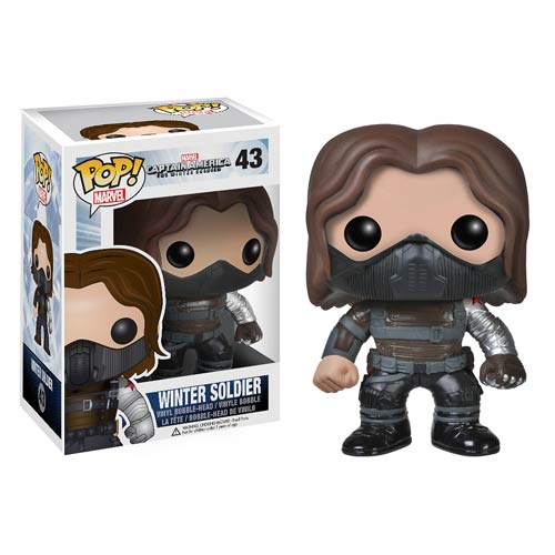 Captain America 2 Winter Soldier Unmasked Pop! Heroes Figure