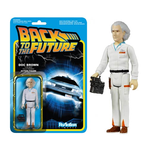 Back to the Future Doc Brown ReAction 3 3/4-Inch Figure