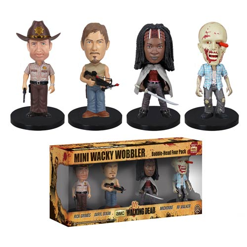 The Walking Dead Mini Bobble Head Box Set