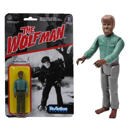 Universal Monsters Wolfman ReAction 3 3/4-Inch Action Figure