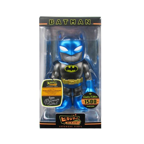 Batman Black Glitter Blue Metallic Hikari Vinyl Figure