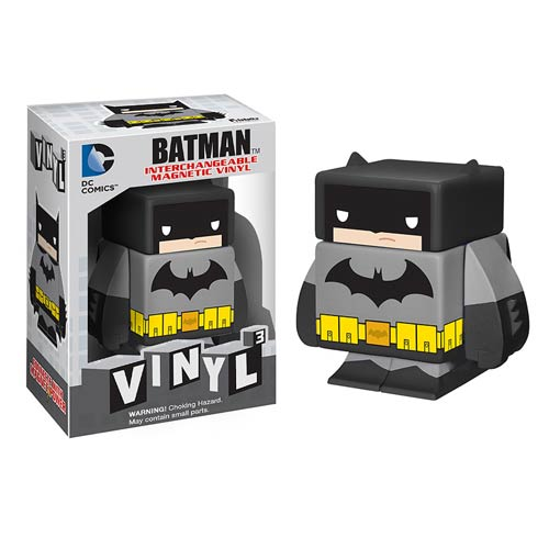 Batman Black Interchangeable Magnetic Vinyl Cubed Figure