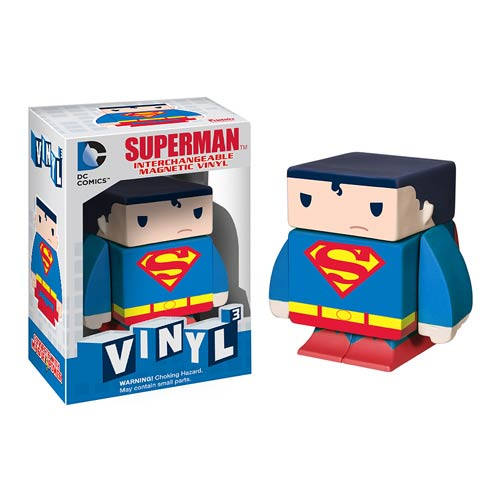 Superman Interchangeable Magnetic Vinyl Cubed Figure