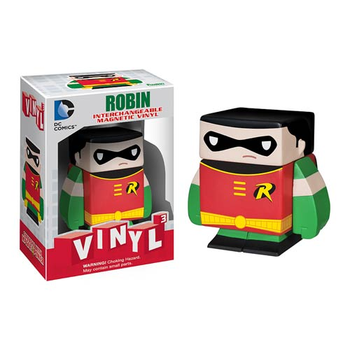 Batman Robin Interchangeable Magnetic Vinyl Cubed Figure