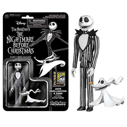 SDCC Exclusive NBX Jack Skellington with Zero Action Figure