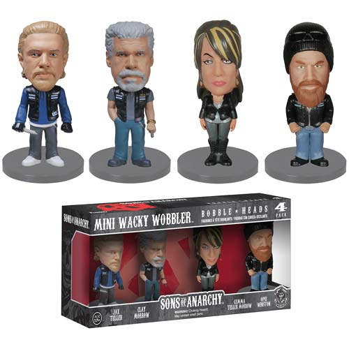 Sons of Anarchy Mini Wacky Wobbler 4-Pack