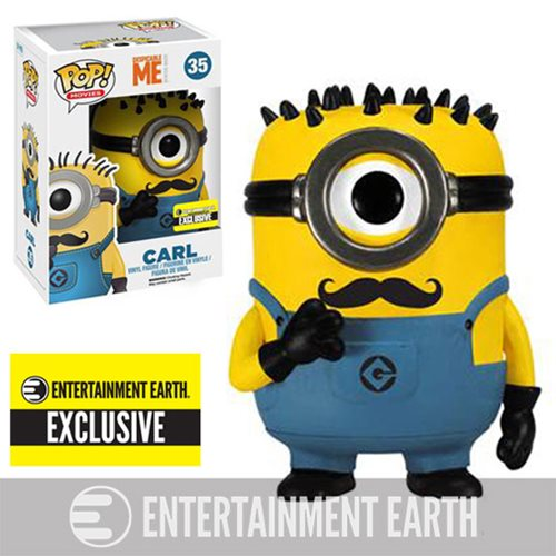Despicable Me 2 Mustache Carl Pop! Vinyl Figure EE Exclusive