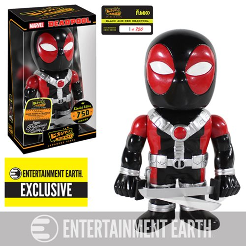 Deadpool Black and Red Hikari Sofubi Vinyl Figure - EE Exc.