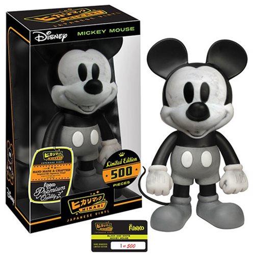 Mickey Mouse Black And White Hikari Sofubi Vinyl Figure