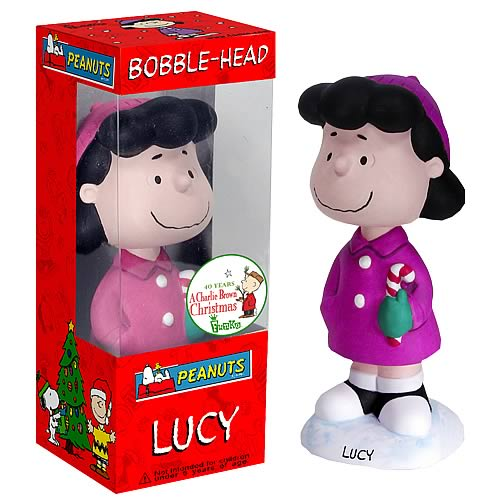 Peanuts: Lucy Christmas Bobblehead